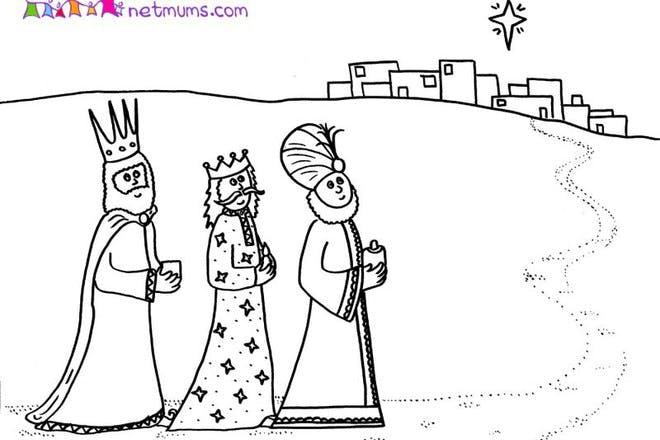 1. Three Kings travelling to Bethlehem