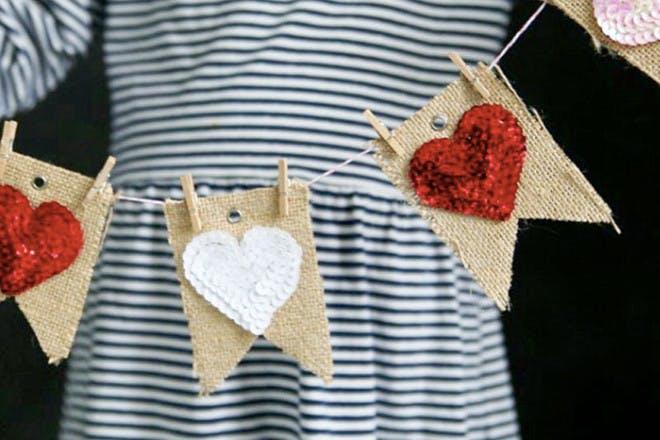 15. Fabric garlands