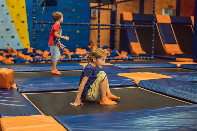 two boys at trampoline park