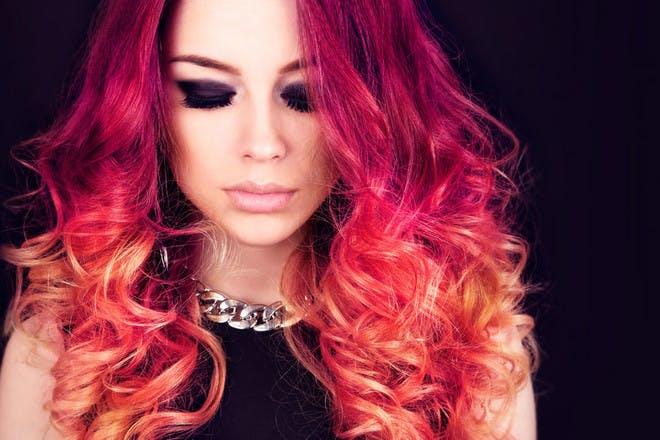 18. Sunset hair