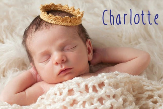baby girl sleeping with crown