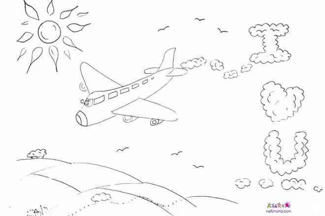 Love plane Valentine's card