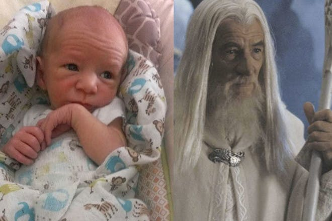 Baby looks like Gandalf from Lord of the Rings