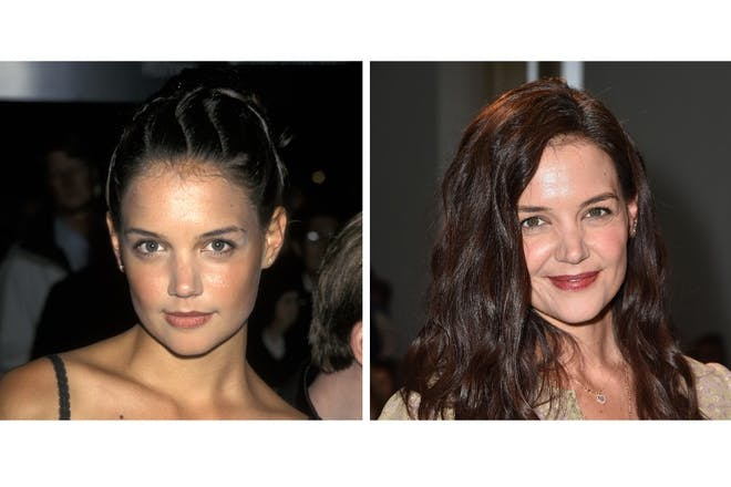 Katie Holmes then and now