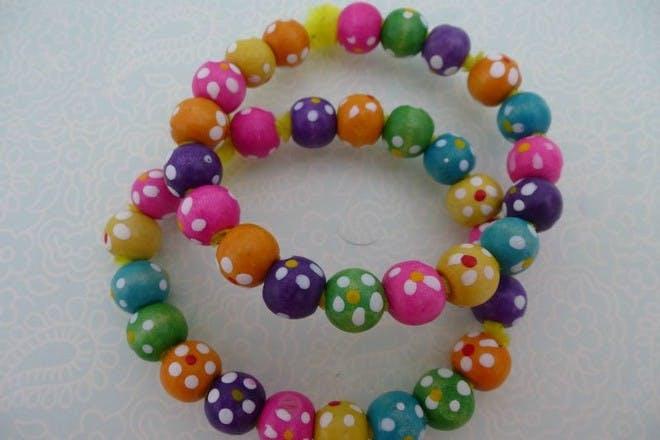 Pretty bead bracelets