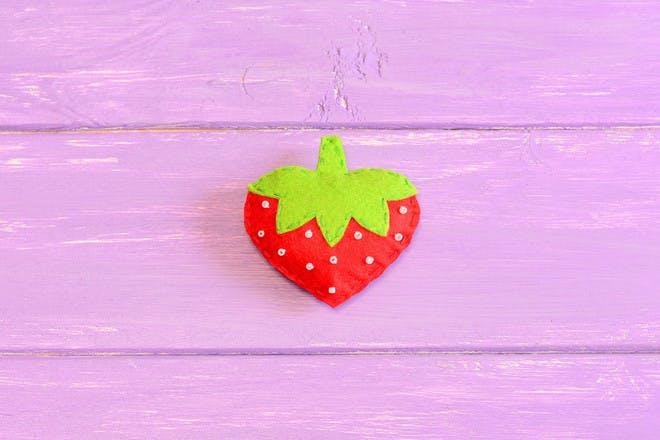 25. Fabric strawberries