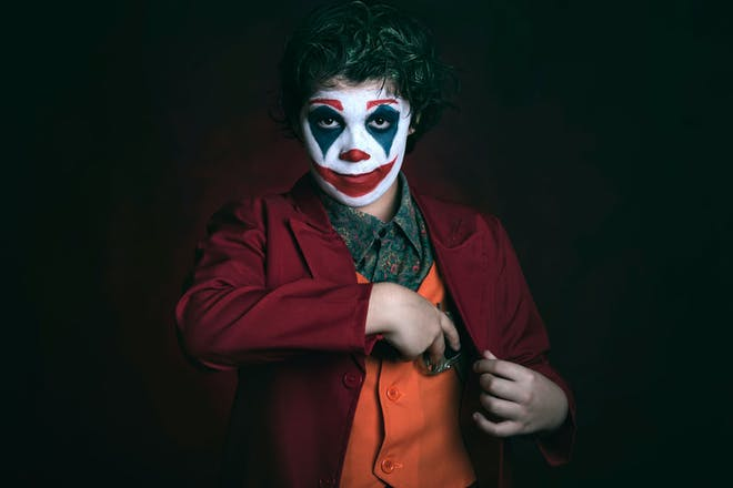 Child dressed as The Joker