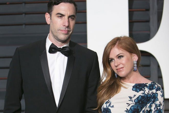 Isla Fisher and husband Sacha Baron Cohen
