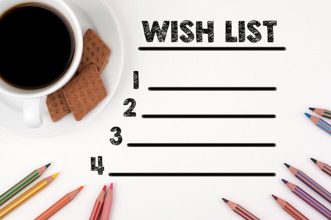 70. Write a wish list