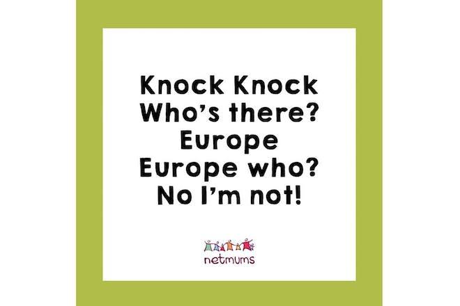 吉姆:敲门。谁在哪?欧洲。是谁?不是我!