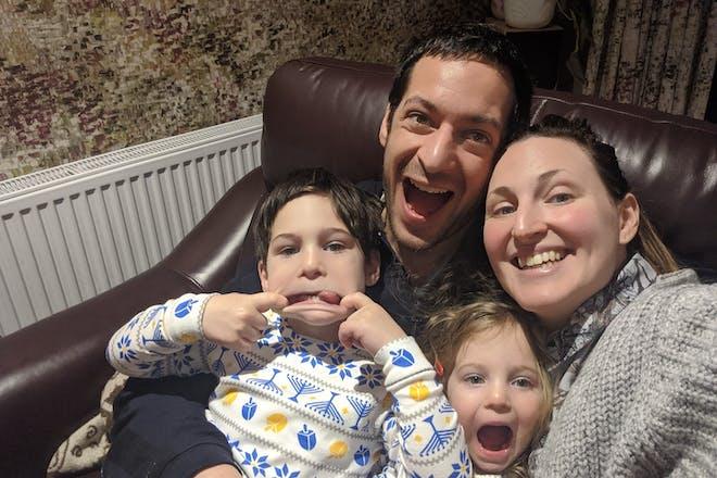 Debra Harris with family