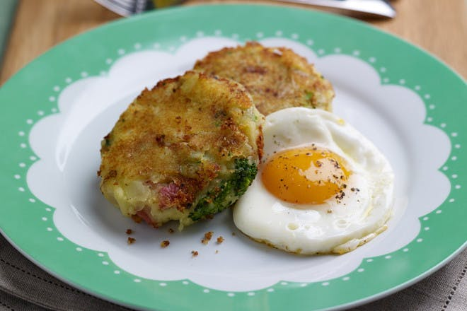 Bubble and squeak with a fried egg