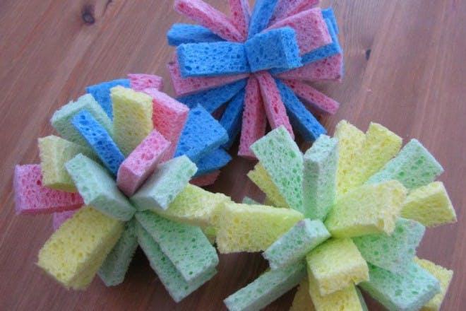 colourful sponge balls