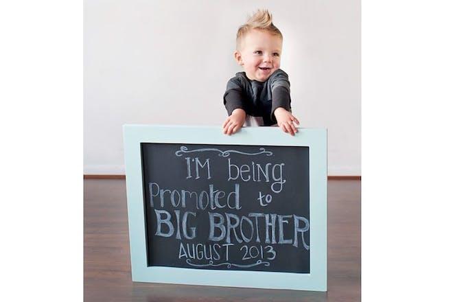 Big sibling pregnancy announcement