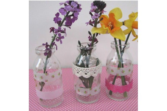 jars with flowers in them