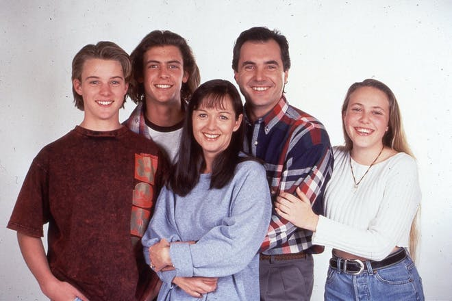 Jesse Spencer and Kennedy family from Neighbours