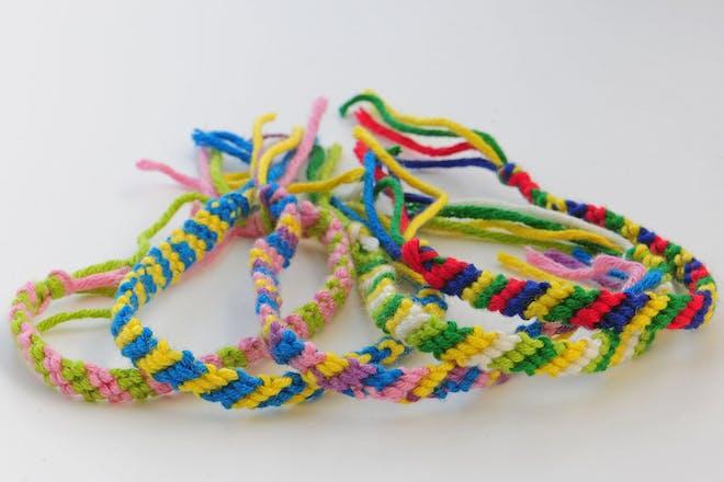 Selection of friendship bracelets