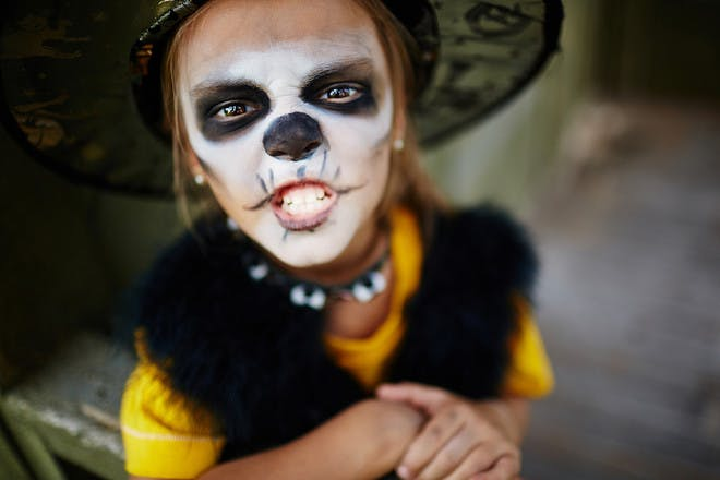 Halloween face paint for a witch