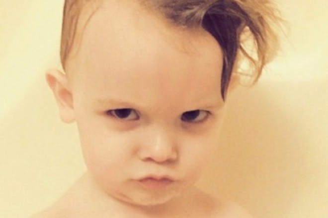 child looking angry