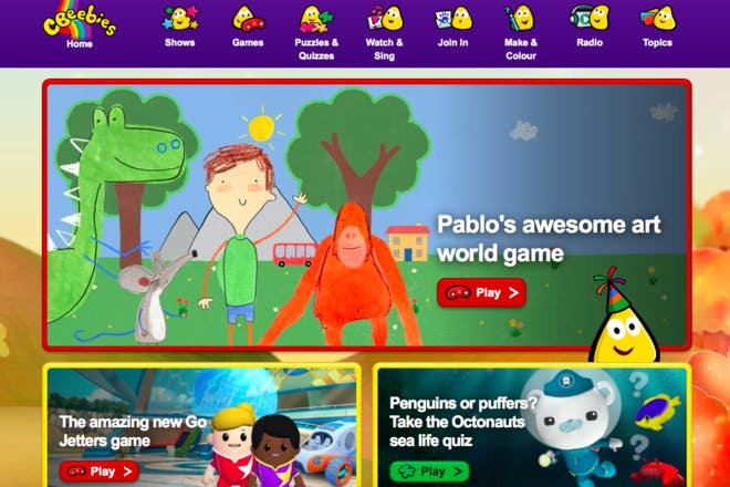 CBeebies educational website