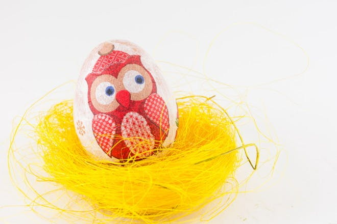 decoupage decorated egg
