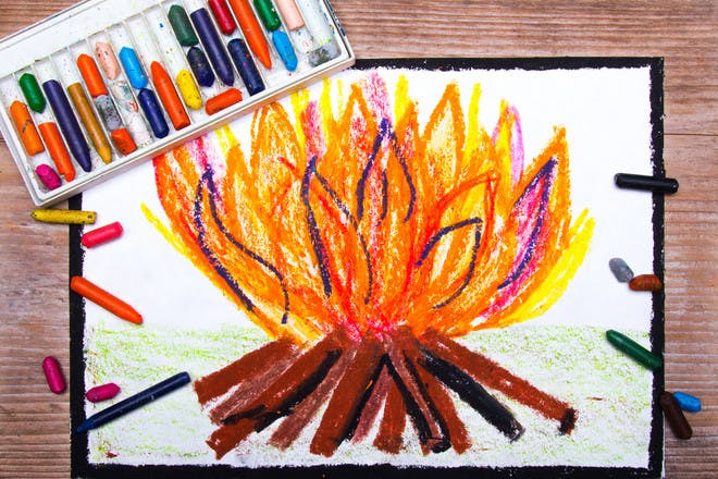 Bonfire Night pictures to colour in