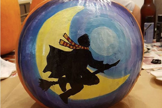 Wizard scene pumpkin