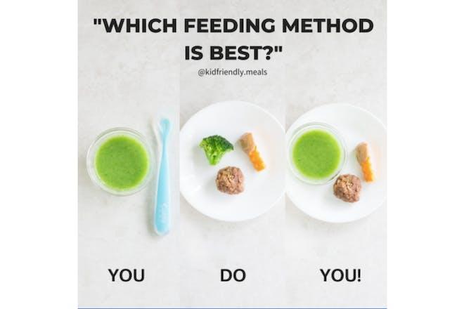 Baby led weaning feeding method