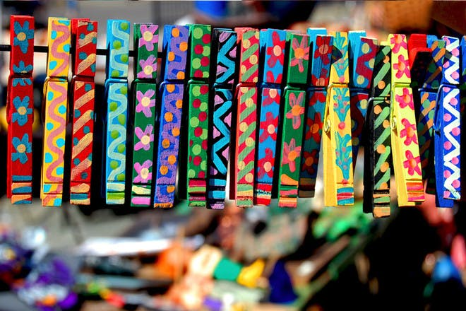 10. Painted pegs