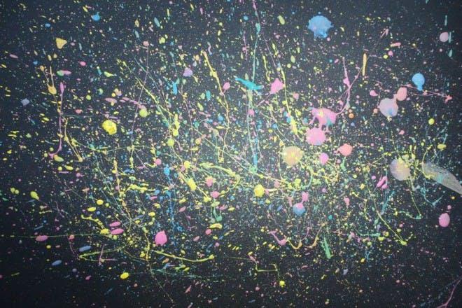 splatter paint fireworks