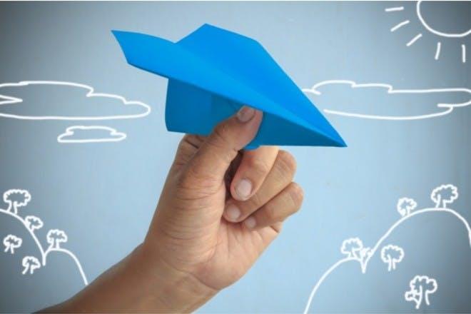 Have paper plane races