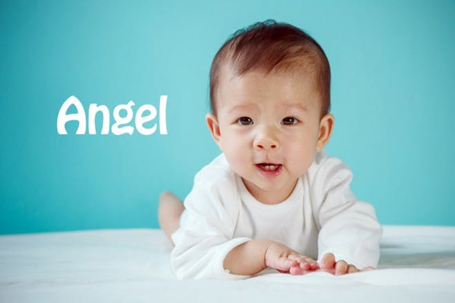 baby with blue background