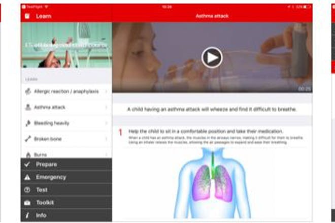 18. British Red Cross baby and child First Aid app