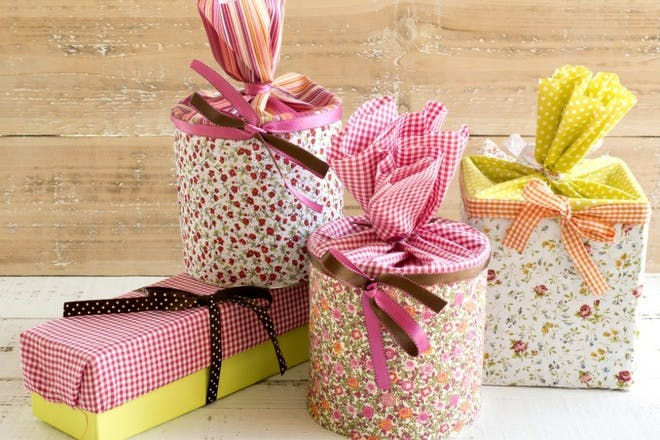 flower fabric wrapping