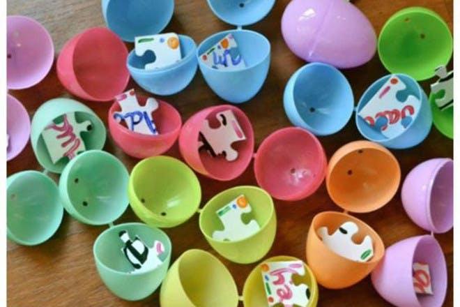 Plastic hollow eggs