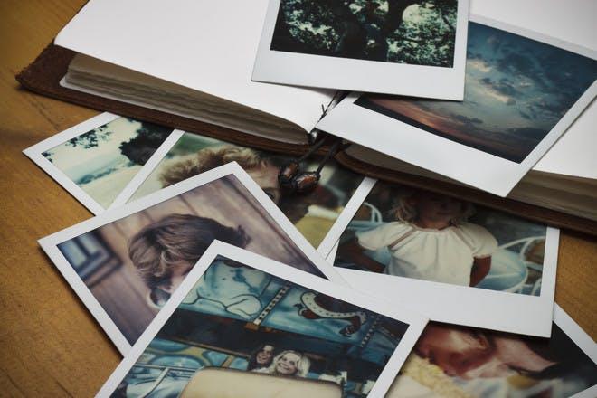 polaroids in album
