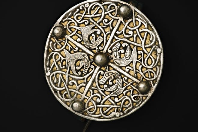An Anglo-Saxon disc brooch from the Galloway Hoard