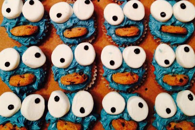 cookie monster cupcakes fail
