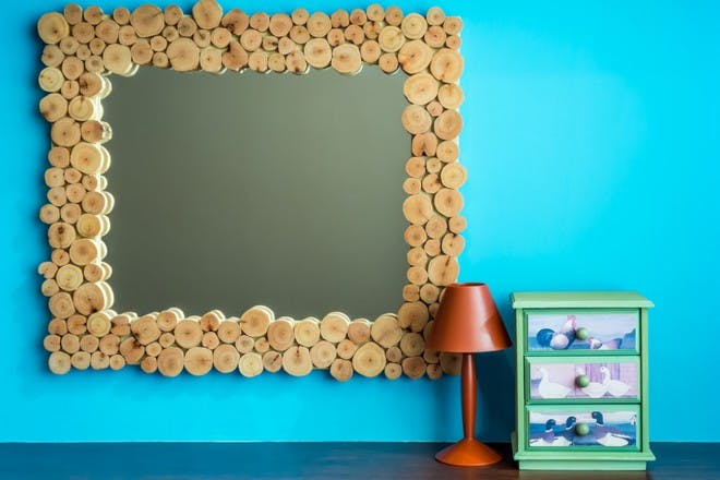 mirror and mantlepiece