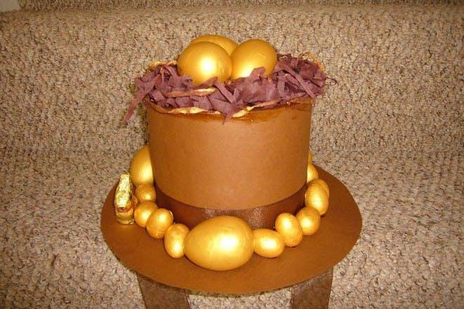 gold easter bonnet