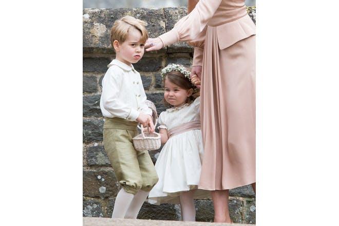 Prince George and Princess Charlotte at Pippa Middleton's wedding