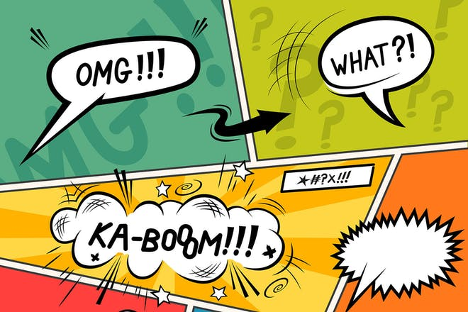 Comic book captions
