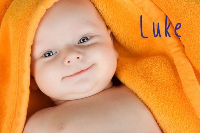 baby boy in towel