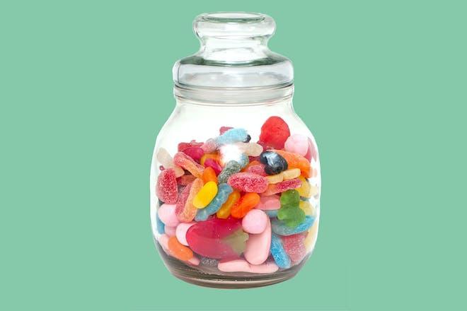 Jar of pick 'n' mix