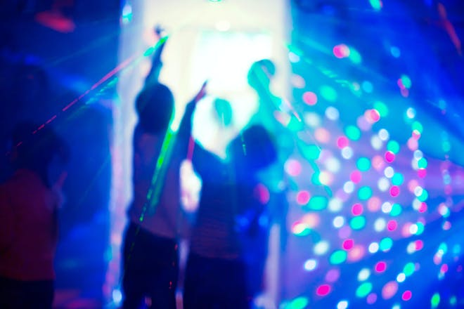 Kids dancing at a disco