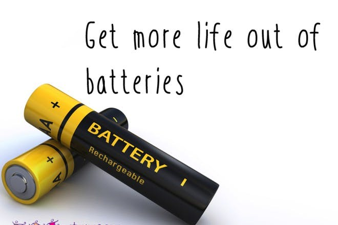 black and yellow batteries