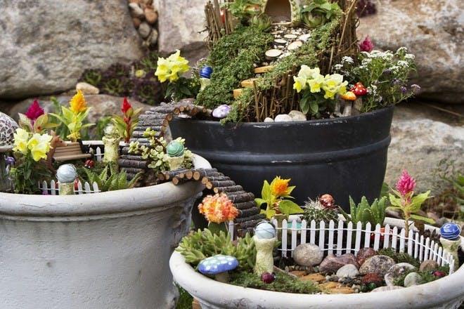 22. Build a fairy garden