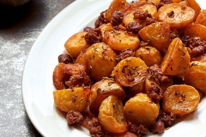 Chorizo roast potatoes recipe