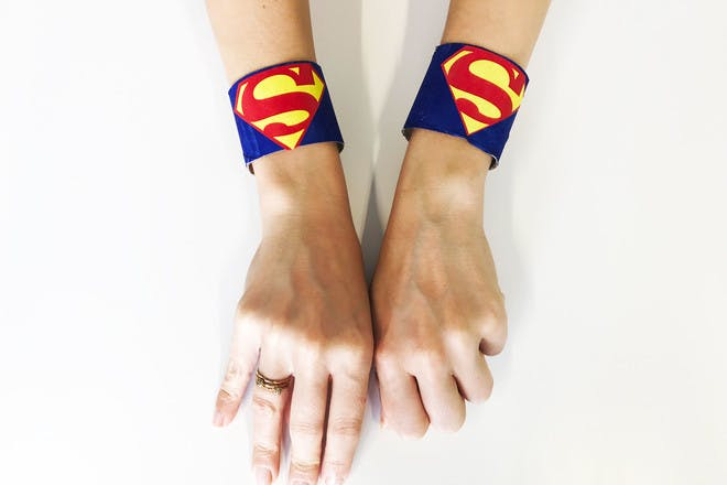 96. Make superhero cuffs