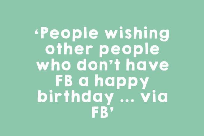 2. The pointless 'happy birthday' post